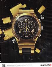 PUBLICITE  ADVERTISING 2012   SWATCH  nouvelle collection montre          201112