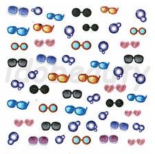 NAIL ART STICKER DECORATIONS COLOUR SUNGLASSES GLASSES DESIGN FOR NAILS
