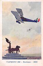 """C5073) AVIAZIONE CAPRONI 100, TURISMO 1928, """"SENZA COZZAR DIROCCO""""."""