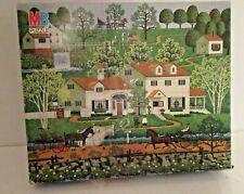 Vintage Milton Bradley Wysocki 500 Piece Puzzle Ginger Nut Valley 4678-2