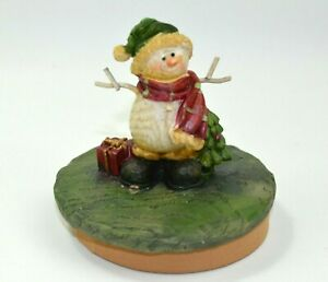 Resin Candle Topper Snowman All Decked Out