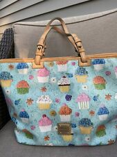 RARE! Dooney & Bourke Limited Edition Blue Cupcake Leisure Tote Bag Handbag EUC