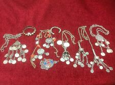Assortment Of Antique Tribal Indian Kashmir Afghanistan?? Silver Jewellery