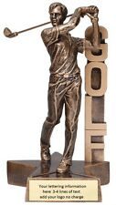 Male Or Female Golf Resin Trophy Award 6 1/2 Inches Tall Free Lettering M-Rst207