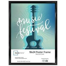 Mainstays 18x24 Trendsetter Poster and Picture Frame, Black NEW FREE SHIPPING