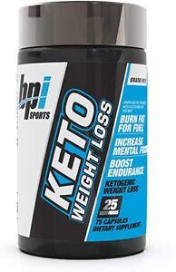 New bpi Sports Keto Weight Loss Ketogenic 75 capsules 25 servings