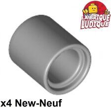 Lego technic - 4x Axe Axle connector pin round 1L gris/light b gray 18654 NEUF