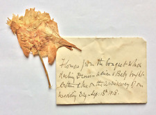Flower Gifted to Arthur Conan Doyle by His Children - w/ LOA from Doyle's Wife