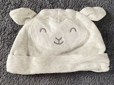 Carters Infant Hat Boy or Girl Light Gray Sheep With Ears Hat (SIZE: 3M)
