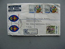 MALAYSIA, R-cover to the USA 1974, ao scouting butterfly