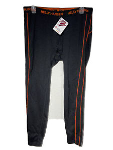 HH Helly Hansen Black Lifa Merino Base Layer long Pants Mens Sz 2XL NWT48320-990