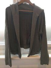 James Perse Soft Green Hoodie Hooded Open Cardigan Sweatshirt Jacket 2 M Medium