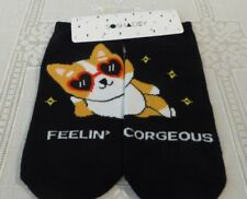 8473b2f481d Forever 21 Socks Corgi Print One Size Casual Ankle NWT Women s Black