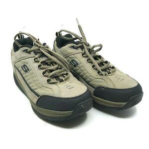 Skechers Shape Ups Shoes (52000EW), Men's Size 13 Olive / Black Lace-Up [A14]