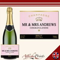 L24 Personalised Rose Champagne Brut Bottle Label - Perfect Gift Any Occasion!