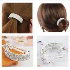 1PC Metal Rhinestone Bow Hair Clip Barrette Headwear Hair Accessories For Women