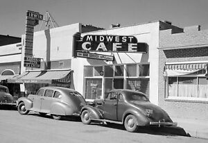 "1941 Midwest Cafe, Main St, Craig, Colorado Vintage Old Photo 13"" x 19"" Reprint"