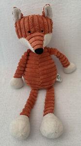 "Little JELLYCAT Baby Cordy Roy Fox Stuffed Toy Orange Cream Corduroy Small 13"""