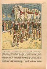 Exposition Coloniale Gilles de Binche Sabots Pavillon de Belgique Paris 1931