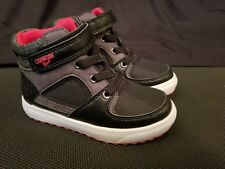 OshKosh B'gosh Willy Toddler Boys High Top Sneaker Shoes Black Red White Size 6