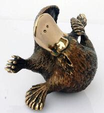 Australian Wildlife Art Statue Cast Bronze Curled Platypus signed Eddie Wentorf
