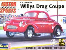 REVELL Monogram 1:25 K.S. Pittman Willys trascinare COUPE KIT modello di auto