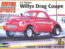 Revell Monogram 1:25 K.S. Pittman Willys Drag Coupe Car Model Kit