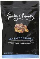 Funky Chunky Sea Salt Caramel Popcorn - Large Bag, 5 ounces