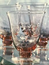 Towle Today Set Of 4 Pink Double Old Fashion Glasses