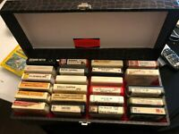 lot of 23 Vintage 8-tracks with original carrying case Dolly Cher Country etc