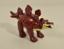 "4"" Maroon Red Stegosaurus Action Figure Downtown Disney T-Rex Cafe Restaurant"