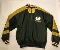 Vintage Packers Pro Line Reversable Windbreaker Men's Size L Rare NFL Football