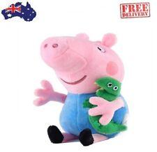 Peppa Pig George 19cm Plush Soft Toy with dinosaur.