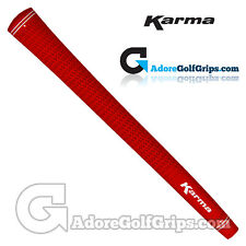 Karma Velour Jumbo Golf Grips - Red x 1