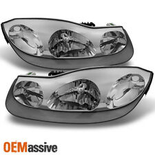 01-02 Saturn S Series SC1 SC2 Coupe Chrome Clear Headlights Replacement Pair