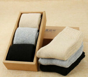 3/6 Pairs 100% Wool Cashmere Women Thick Socks Comforta Super Warm Gift Box