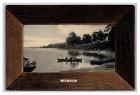 Chautauqua Lake, NY New York, The Cove Row Boat Canoe Postcard Posted 1910-19