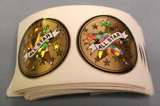 """wholesale lot of 106 trophy parts All Star gold star mylar 2"""" diameter"""