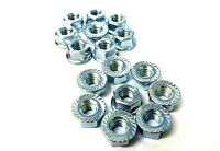 Flange nuts. 8mm. Serrated. Pack of 50. Bright Zinc Plated. *Top Quality!