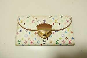 Authentic LOUIS VUITTON Portefeuille Eugenie Multicolor Long Wallet  #7947