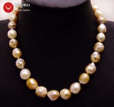 """10-13mm Multicolor Round Natural Edison PEARL Choker Necklace for Women 17""""-6185"""