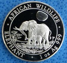 2011 Somalian African Elephant 1 Ounce .999 Fine Silver Coin, Africa Wildlife