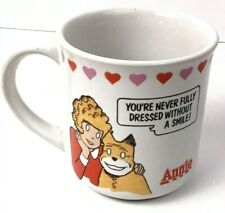 Vintage Annie Coffee Mug Applause 1982 Never Fully Dressed Without A Smile
