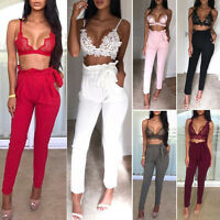 Women's Fashion Pencil Tie Waist Jogger Leggings Loose Casual Pants Trousers Hot