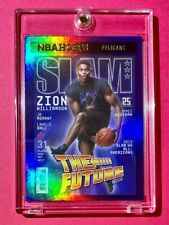 Zion Williamson RARE HOLO REFRACTOR FINISH SLAM SPECIAL INSERT NBA HOOPS - Mint!