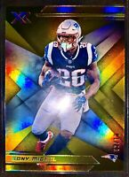 Sony Michel 2019 Panini XR Gold Refractor Parallel #/10 New England Patriots SSP