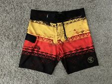 Da Hui Hawaii, Mens Tribal Print Board Swim Shorts, US Size: 38