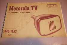 New Listing1946 Motorola Television Schematic Diagrams 1946-1953