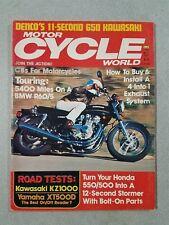 Motor Cycle World Magazine May 1977 - Kawasaki KZ1000 & 650 - Yamaha XT500D