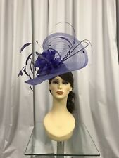 Snoxell & Gwyther Fascinator, Wedding Occasion, Formal Races Purple NWT